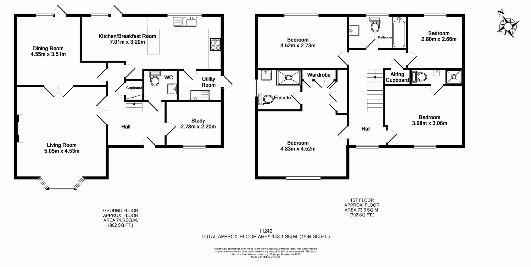 Booth road hanwell fields ox16 ref 11242 banbury for Uk house floor plans