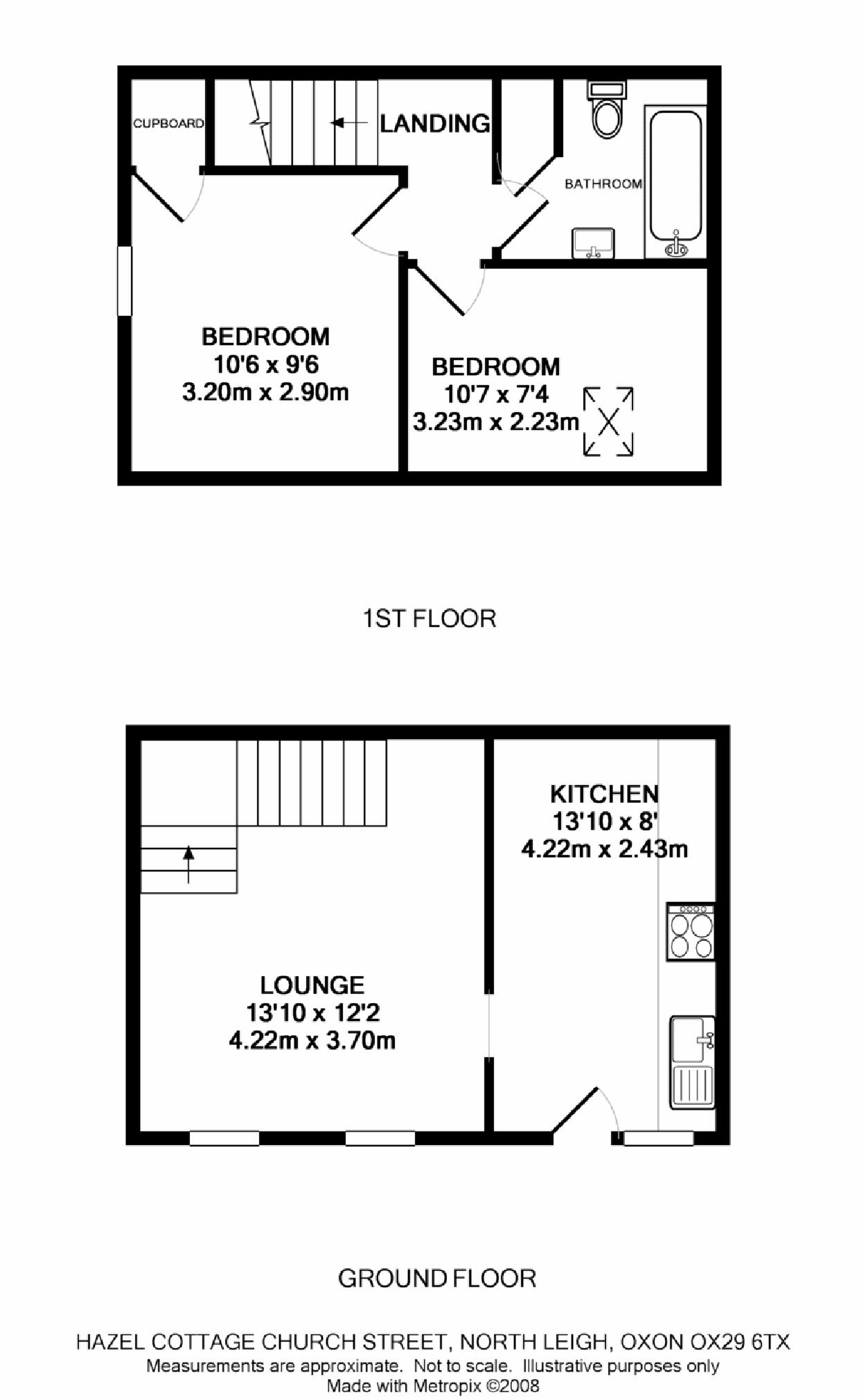 Church road north leigh ox29 ref 15572 witney for 2 bed house floor plans uk