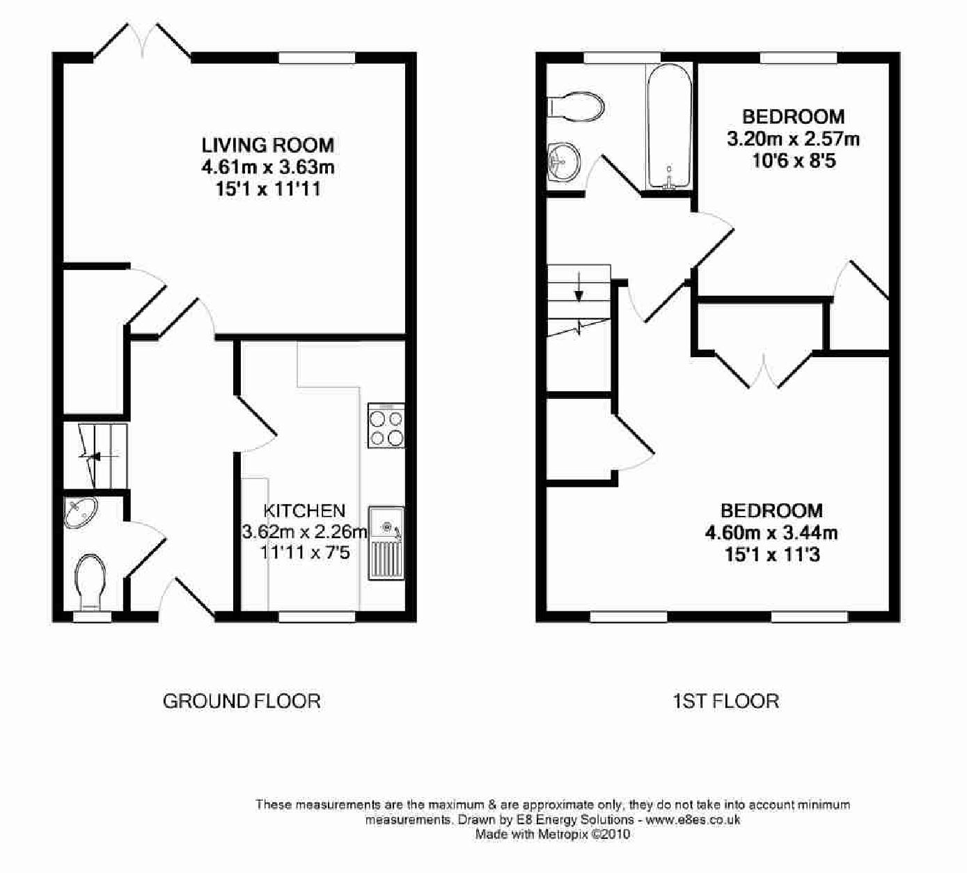 ground floor 2 bedroom house designs For2 Bed House Floor Plans Uk