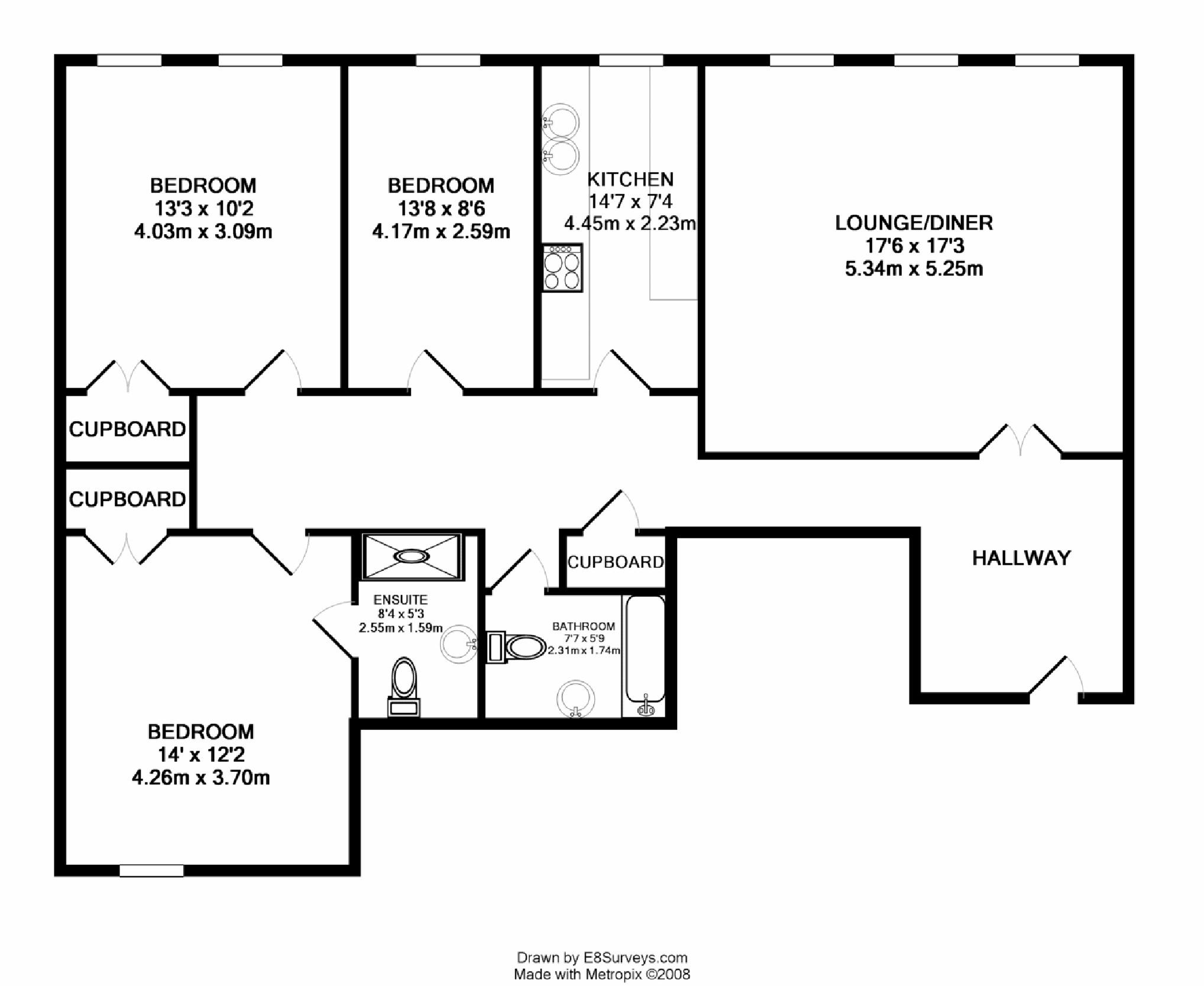 Woodford mill witney ox28 ref 15928 witney for 4 bedroom flat floor plan