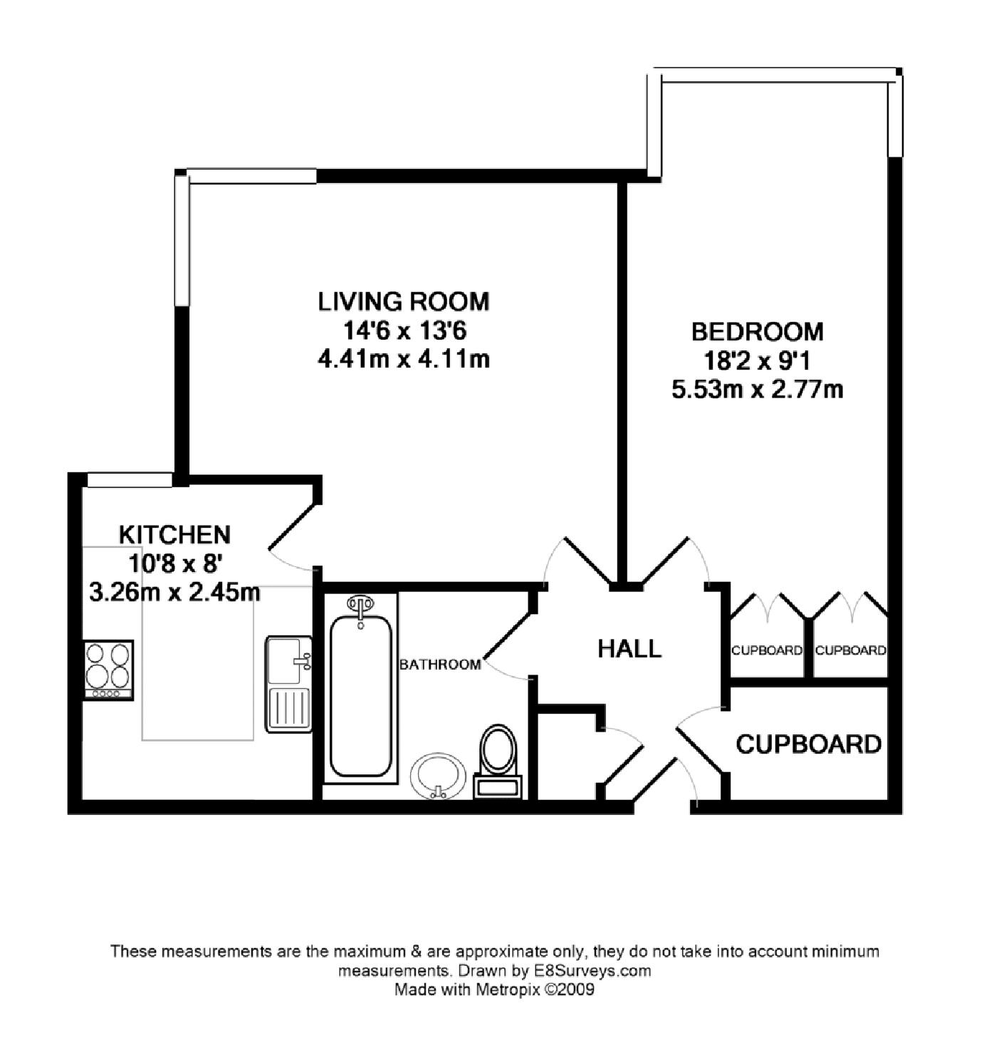 Marston ferry road ox2 ref 2988 oxford summertown for 1 bedroom flat floor plan