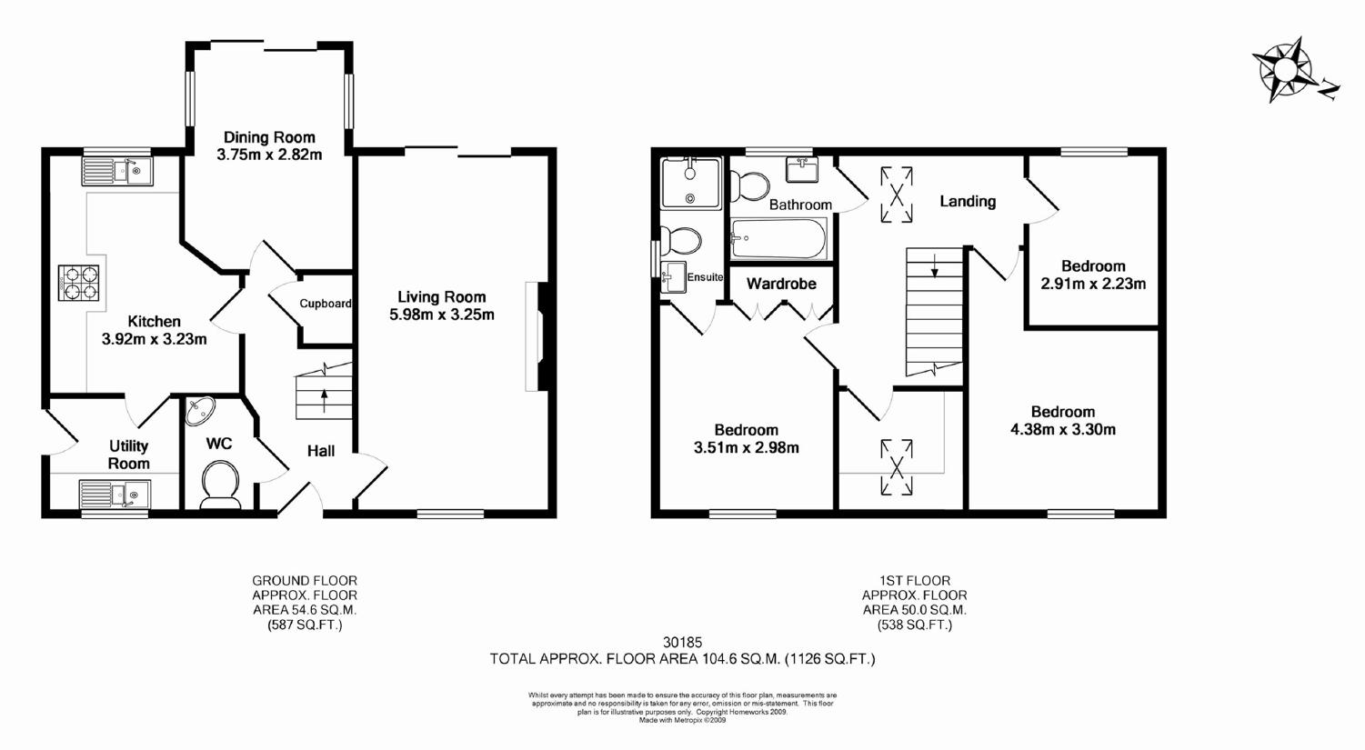 Birds eye view of a house plan House plan view