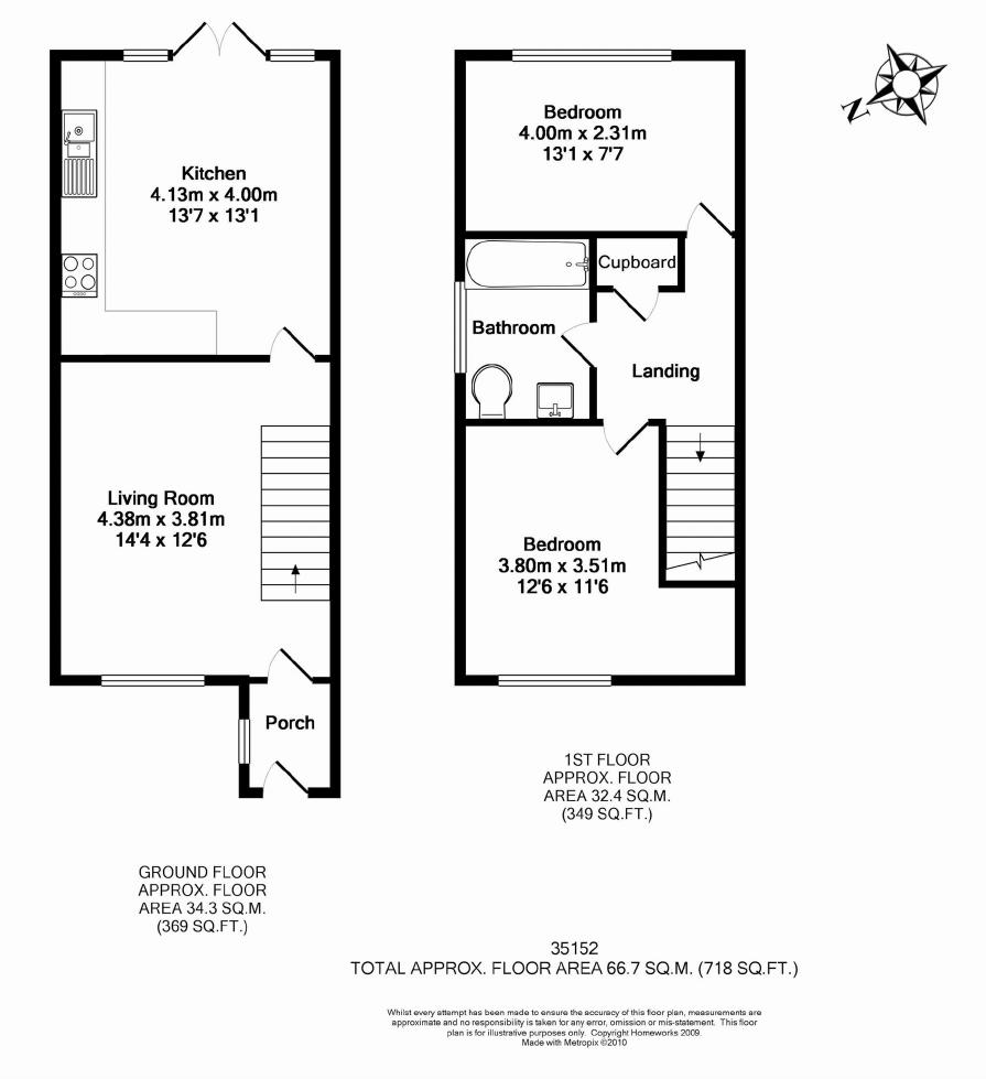 Station road launton ox26 ref 35152 bicester for 2 bed house floor plans uk