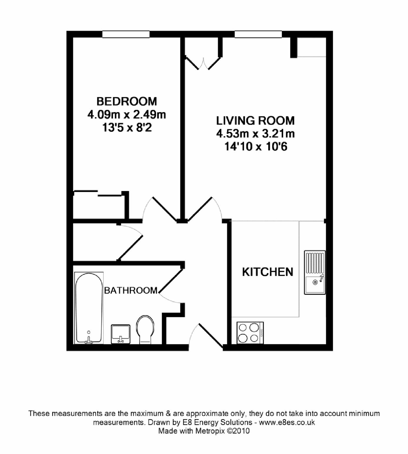 St thomas street central ox1 ref 50081 oxford centre for 4 bedroom flat floor plan