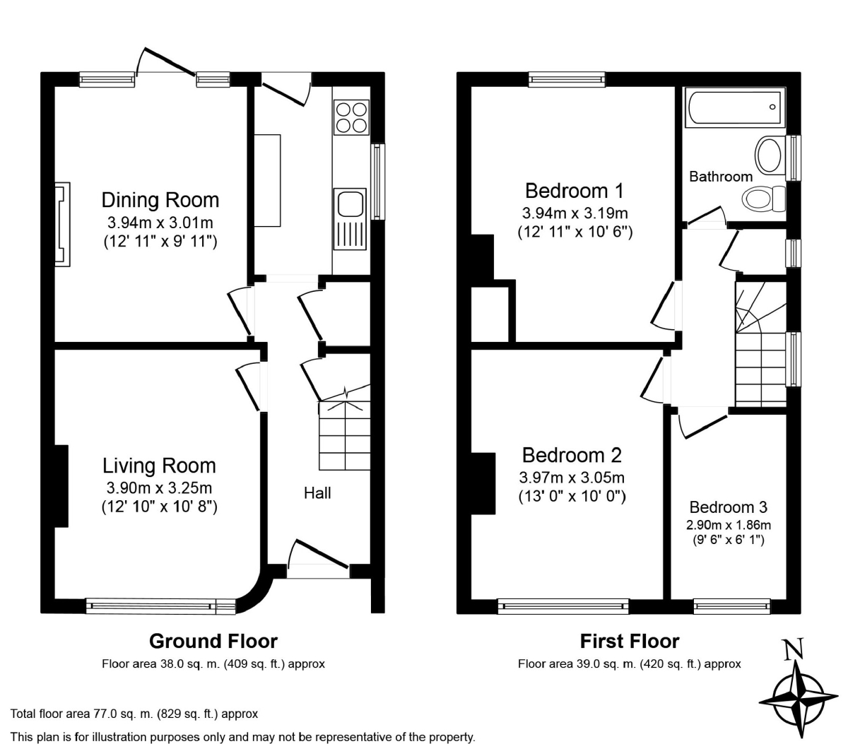 3 Bed House Floor Plans Uk