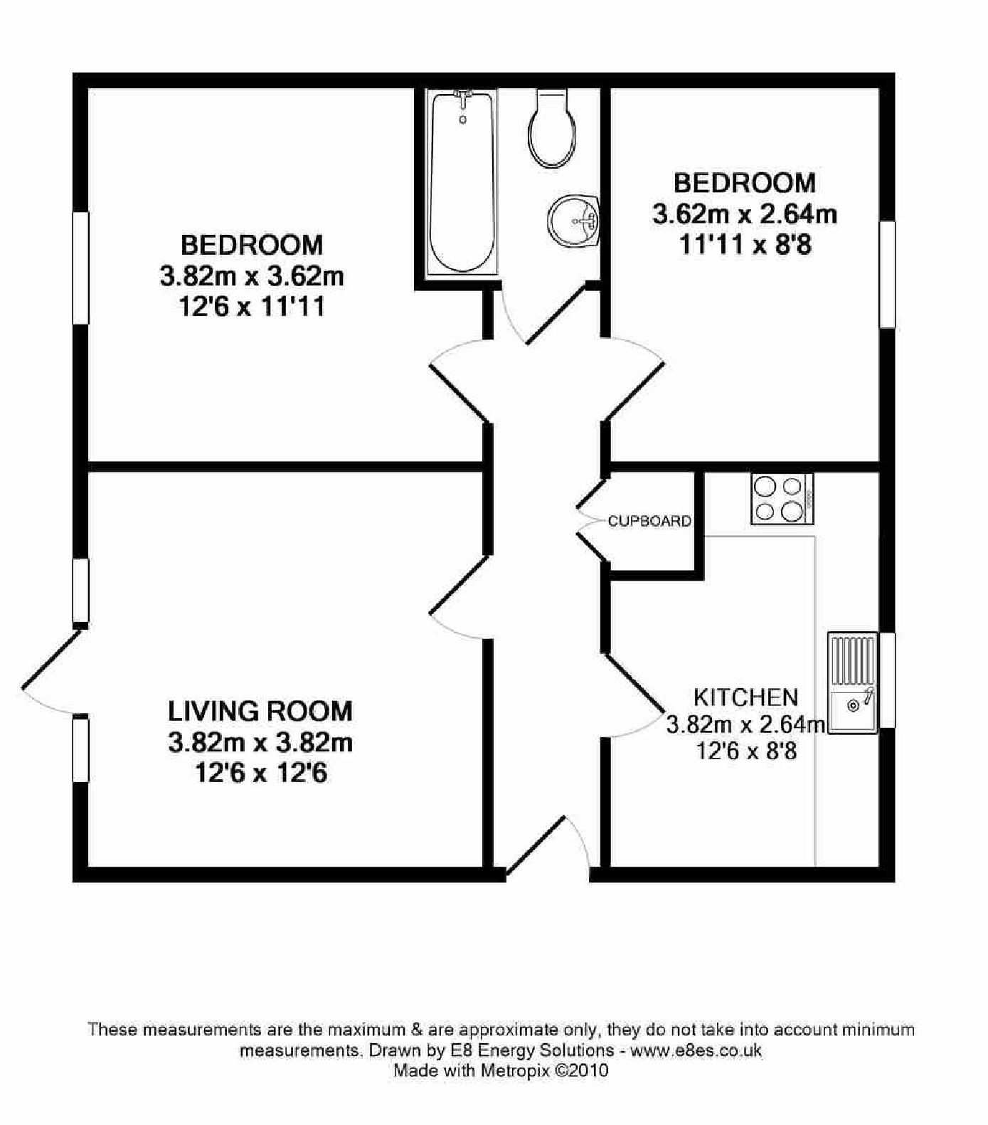 Marina way abingdon ox14 ref 6288 abingdon for One bedroom flat floor plan