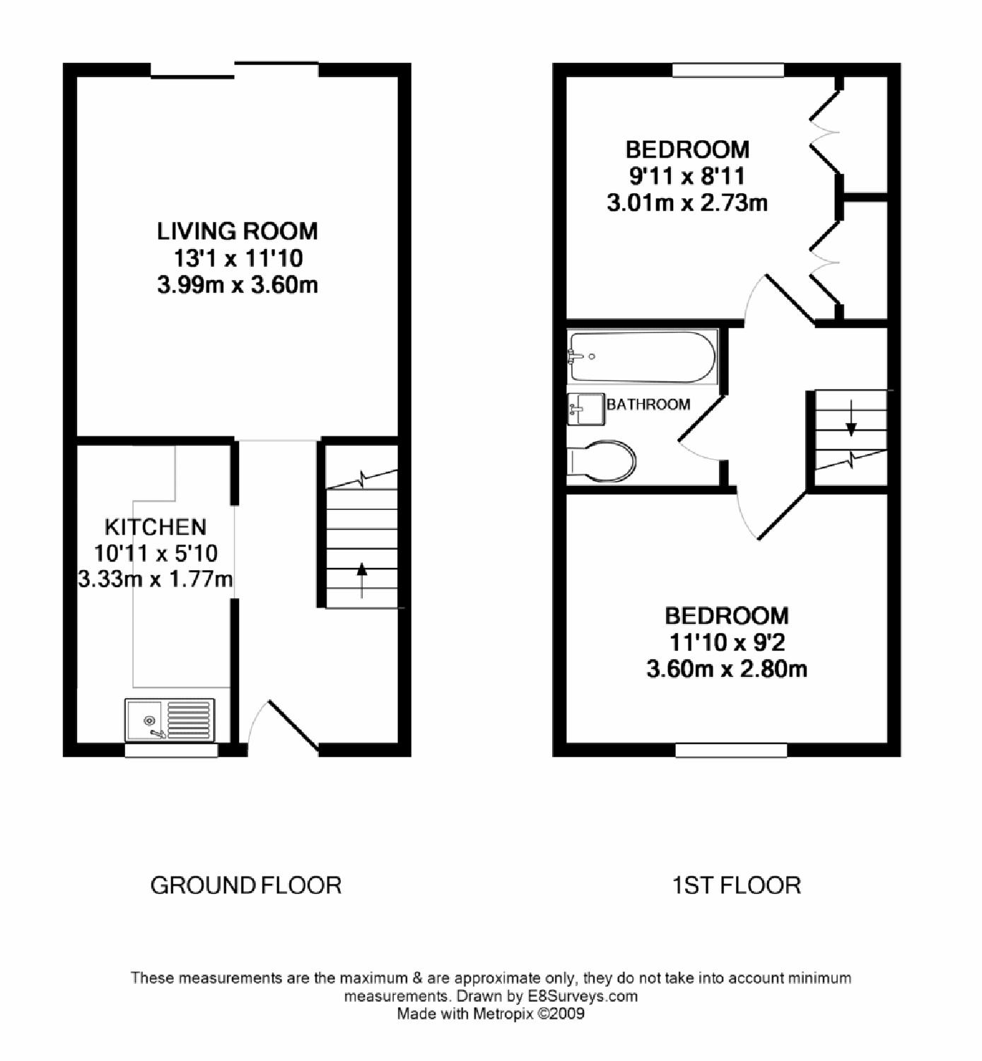 Wensum drive didcot ox11 ref 7928 didcot for 2 bed house floor plans uk