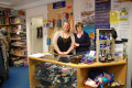 Carly Jarvis and Jacqui Torrance from FK North Oxford volunteering in Sobell's Witney shop