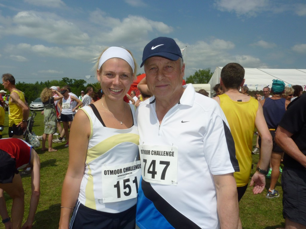 Amy Read and her Dad before the start of a race
