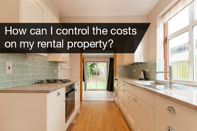 How can I control the costs on my rental property