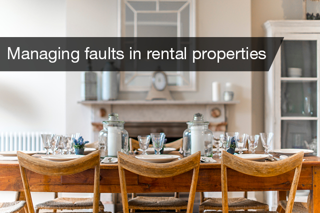 Managing faults in rental propeties