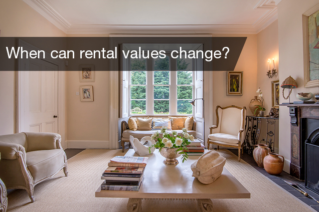 When can rental values change